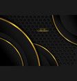 luxury abstract background black gold simple vector image