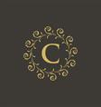 luxury crest decorative hotel boutique logo vector image vector image