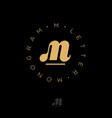 m monogram gold web business clothes sports vector image vector image