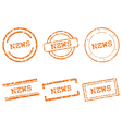 News stamps vector image vector image