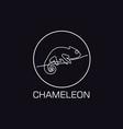 one line chameleon logo vector image vector image
