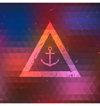 Pixelated Background with Anchor Symbol vector image