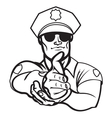 police officer2 resize vector image vector image