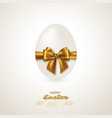 realistic 3d easter egg vector image vector image