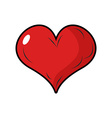 Red heart symbol of love 3d heart with blink vector image vector image