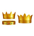 royal golden crowns realistic collection vector image vector image