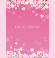 seamless cherry blossoms background vector image vector image