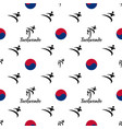 seamless pattern taekwondo vector image vector image