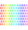 seamless pattern with rainbow people holding hands vector image vector image