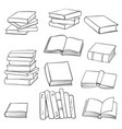 set drawing books vector image