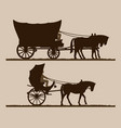 silhouettes carriages vector image