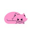 sleeping cat pink isolated kitten be asleep sleep vector image vector image
