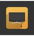 Smart TV flat icon vector image vector image