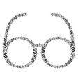 spectacles collage of dollar vector image vector image