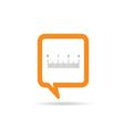 square orange speech bubble with straightedge icon vector image