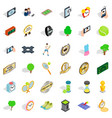 stopwatch icons set isometric style vector image vector image