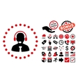 Support Chat Flat Icon with Bonus vector image vector image