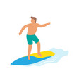 surfer boy ride a surfboard surfing on wave vector image vector image