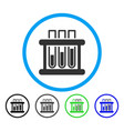 test tubes rounded icon vector image vector image