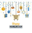 traditional hanukkah celebration with festive vector image vector image