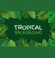 tropical background composition with green vector image