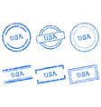 USA stamps vector image vector image