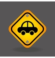 vehicle yellow road street sign vector image vector image
