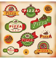 vintage pizza labels vector image vector image