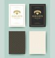 wedding save date invitation cards vintage vector image vector image
