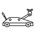 wheels jack-screw icon outline style vector image vector image