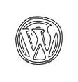 wordpress icon doodle hand drawn or black vector image vector image