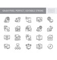 work from home line icons vector image