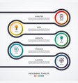 road infographic timeline concept with 5 options vector image