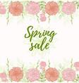 background for spring sale vector image