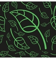 Effective Green Leaves Seamless Pattern vector image