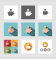piggy bank icon set vector image