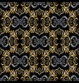 3d embroidery baroque seamless pattern vector image vector image