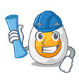 architect character hard boiled egg ready to eat vector image