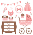 Baby girl is coming vector | Price: 1 Credit (USD $1)