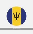 barbados round circle flag