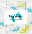 bashower card with modern tropical leaf vector image vector image
