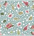 beautiful vintage floral pattern vector image vector image