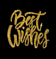 Best wishes hand drawn lettering phrase isolated