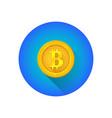 bitcoin symbol gold coin icon vector image
