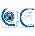blue circle business brochure design template vector image