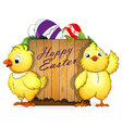 Chickens and Easter eggs vector image