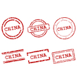 China stamps vector image vector image