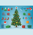 christmas and new year elements christmas vector image vector image
