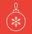 christmas tree ball line icon new year christmas vector image