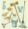 Cleaning service sketch design elements vector image